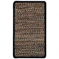 Capel Kenya Orange/White Braided Rug - 0105-825