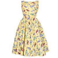 Audrey Retro 50s Chevrolet Car Print Vintage Inspired Dress | Style Icon`s Closet