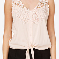 Self-Tie Crochet Top | FOREVER 21 - 2035817533