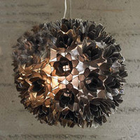 Lotus Flower Chandelier - Smoke