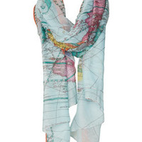 Map Print Scarf
