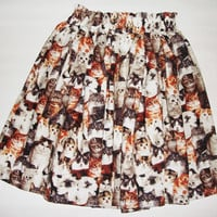 Retro High Waisted Infinite Cats Skirt