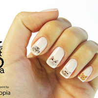 Cat Faces Water Transfer Nail Sticker