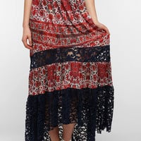 Urban Outfitters - Ecote Lace-Block Knit Maxi Skirt