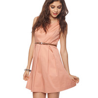 Classic Pleat Dress w/Belt