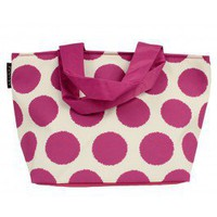 Orchid Polka Dot Lunch Tote