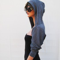 Grey Hooded Shrug by MIRIMIRIFASHION on Etsy