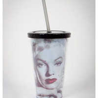 Marilyn Monroe Cup with Straw