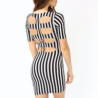 cut-out-striped-dress BLACKIVORY - GoJane.com