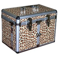 Amazon.com: Leopard Print Cosmetic/Jewelry Train Case: Health & Personal Care