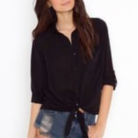 Tied Up Blouse - Nude in  Clothes Tops at Nasty Gal