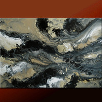 Abstract Canvas Art Painting 36x24 Original Modern Contemporary Paintings by Destiny Womack - dWo - In the Stormy Skies