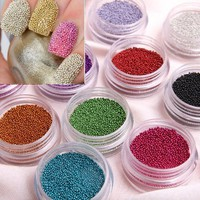 350buy Fashion Caviar Nails Art New 12 Colors plastic Beads