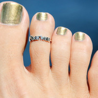Fearless Toe Ring/Knuckle Ring/Pinky Ring 925 by HeartCoreDesign