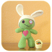 crochet Easter Bunny Zombie costume by HenryStMartin on Etsy