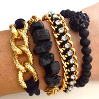 Blackout Bracelet Arm Candy Set