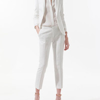WHITE JACQUARD PATTERN BLAZER - Blazers - Woman - ZARA United States
