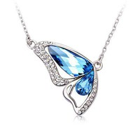 Dancing Butterfly Necklace with Swarovski Elements