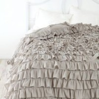 UrbanOutfitters.com &gt; Waterfall Ruffle Duvet