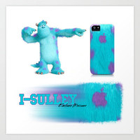 I-Sulley  Iphone case 3d art by Emiliano Morciano (Ateyo)