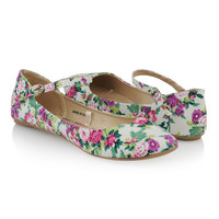 Floral Ankle Strap Flats | FOREVER21 - 2008584739