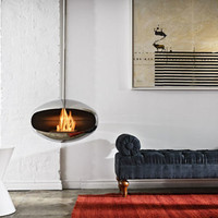 The Ventless Fireplace:  A Cool Idea Worth Warming Up To  | Apartment Therapy