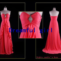 sweetheart chiffon with beading lovely girl dress for party or evening party