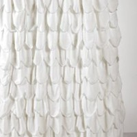 Scalloped Ruffle Shower Curtain