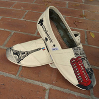 Pub &amp; Eiffel Tower Custom TOMS
