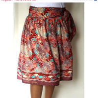 ON SALE Tribal Midi Skirt- Traditional Glamour Borneo fabric