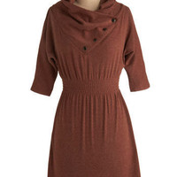 Academy Days Dress in Chestnut