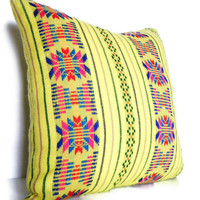 Decorative Geometric Pillow Tribal Aztec Navajo by CityGirlsDecor