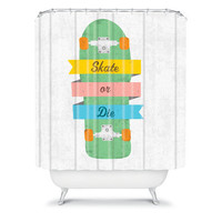 DENY Designs Home Accessories | Nick Nelson Skate Or Die Shower Curtain