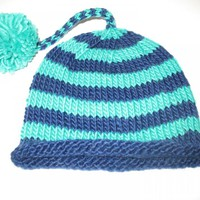 Cute Baby Hat In Pure Natural Wool