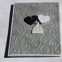 Wedding Card, Embossed, Hearts