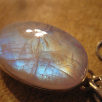 Moonstruck rainbow moonstone &amp; kyanite glow by las81101 on Etsy