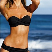 Womens Trendy Swimwear Sexy Swimsuits Neck-strap Vogue Bikini