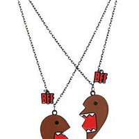 Domo BFF Best Friends Heart Necklaces - 130089