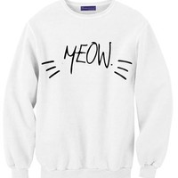 Meow. Sweatshirt/Sweater/long sleeve