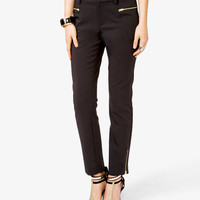 Zippered Pocket Trousers | LOVE21 - 2031557422
