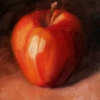 January's Apple 4 x 4 Original Daily Oil by LittletonStudio