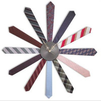 TIE CLOCK | Starburst, Retro, Office, Men | UncommonGoods