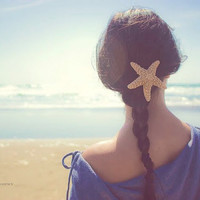 Starfish Hair Clip Starfish Barrette Starfish Hair Accessories Mermaid Hair Accessories Cute Adorable Romantic Elegant Whimsical Dreamy