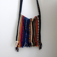 Vintage Woven Hippie Purse Bag Crossbody Boho Bohemian Southwest