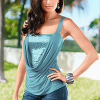 Cowl sequin tank  from VENUS