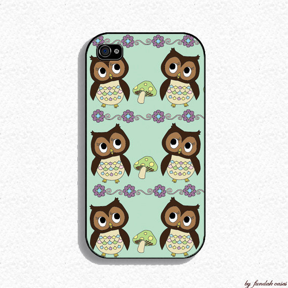 Iphone Case - Owl Iphone Case for Iphone 4 and iphone 4s