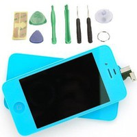 Amazon.com: Light Blue LCD Touch Screen Digitizer Glass Assembly For iPhone 4 4G: Cell Phones & Accessories