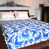 Teterete: Otomi Bedspread Blue, at 10% off!