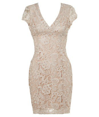 Lipsy Waxed Lace Pencil Dress - Lipsy