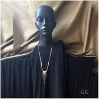 NECKLACE Sculptural Minimalistic Modern Forged and by GGoriginal